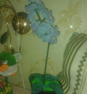 Цветы. Орхидея из бисера