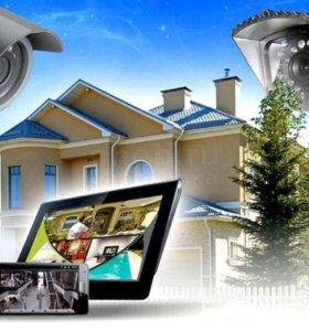 Установка видеонаблюдения (дом, офис, квартира)