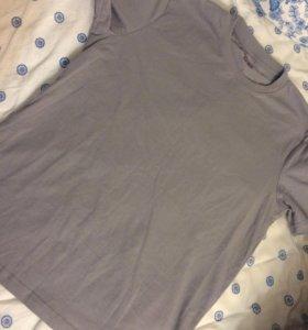 Серая футболка обмен 100% хлопок