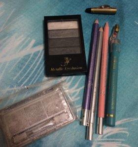 Тени и карандаши для глаз