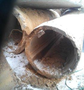Трубы бетонные и кольца б.у
