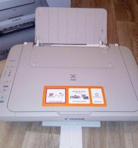 Принтер, сканер, ксерокс. МФУ 3 в 1. Струйный.