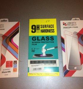 Прочные бронестекла для iPhone 6,6s,7,8 plus