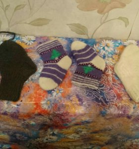 Новые вязаные шерстяные носочки на 1-1.5,