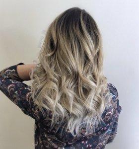 Окрашивание волос, стрижка