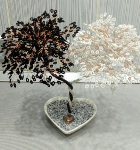 Дерево из бисера Инь-Янь
