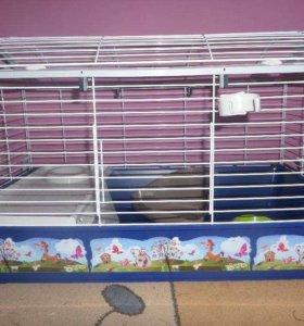 Клетка с полукруглым верхом для свинок кроликов