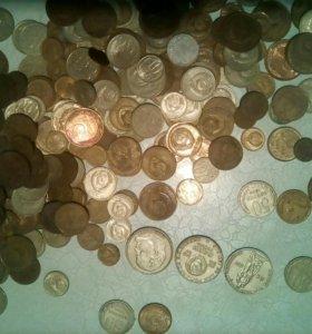 Монеты советского союза, самая старшая 1954 года.