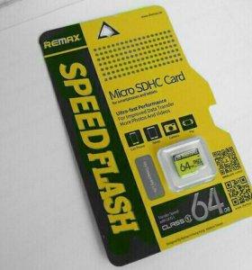 Remax MicroSD 64Gb Оригинал