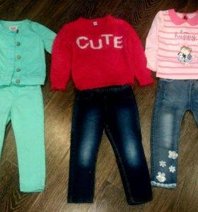 Пакет одежды для девочки р .92-98