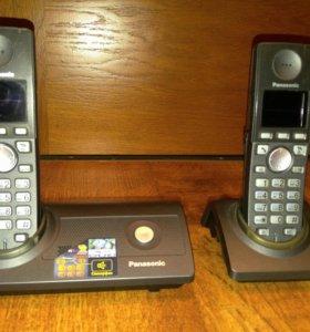 Беспроводной телефон panasonic с двумя трубками
