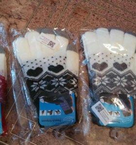Перчатки новогодние для влюбленных
