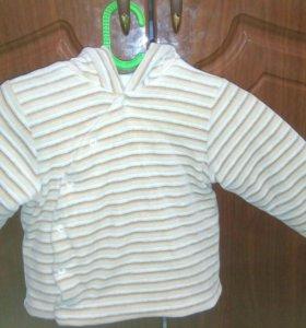 Курточка детская велюровая на синтепоне