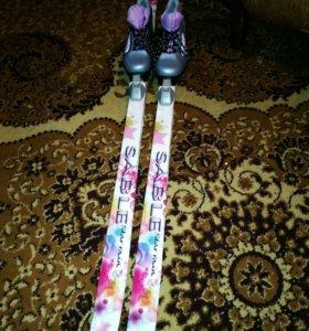Лыжи и коньки для девочки
