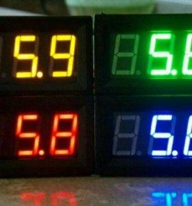 Цифровые вольтметры и вольтметры в прикуриватель