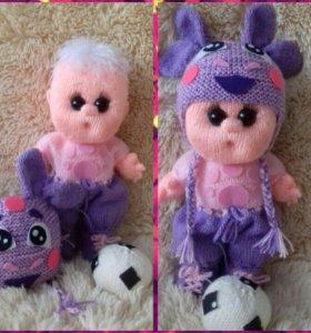 Куклы -пупсы вязанные пример для заказа.