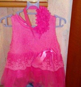 Платье и повязка 3-5 месяцев