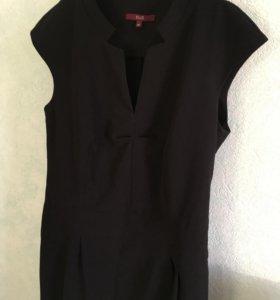 Чёрное платье р-р 46