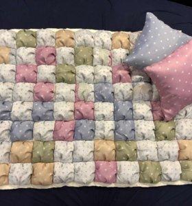 Одеяло-плед Бомбон и подушки