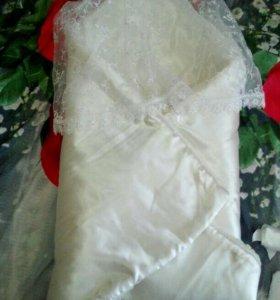 Конверт-одеяло на выписку зимний