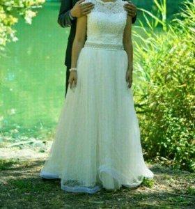 Свадебное,счастливое платье 44-48