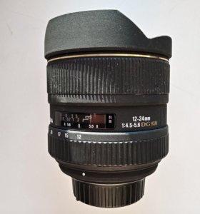 Широкоуголный Sigma AF 12-24mm F4.5-5.6 DG HSM