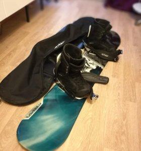 Сноуборд FreeSport Monster + креп + боты + сумка