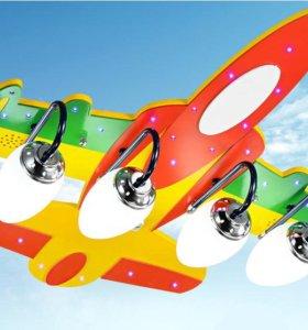 Светильник Самолет в детскую комнату