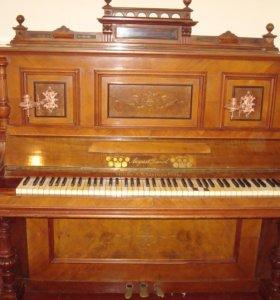 антикварное фортепиано August Dassel