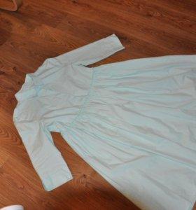 Мятное платье 46-48