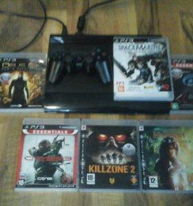 PlayStation 3 + 6 игр.