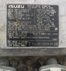 Матор 6-ти цилиндровый izuzu (BB-6BG 1 TRB-05)
