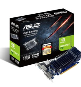 Видеокарта asus PCI-E GeForce 210 1024MB DDR3