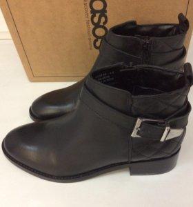 Новые ботильоны ASOS кожаные женские ботинки