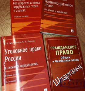 Учебники, шпаргалки