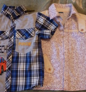 Рубашки для мальчика 2-4 лет