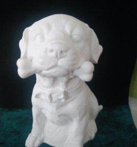 Раскраска 19 см, собака
