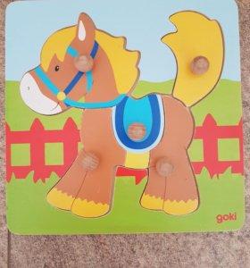 Пазл лошадка Goki