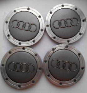 Колпачки оригинальных колесных дисков АУДИ