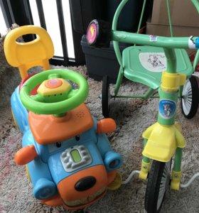 Велосипед и машинка