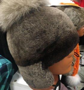 Натуральная шапка для ребёнка 3-5 лет