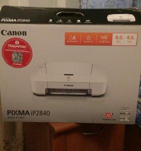 Новый принтер Canon Pixma IP2840, без картриджей