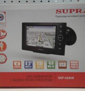 Навигатор+регистратор supra SNP-439VR