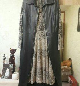 Платье- френч. Кожа натуральная