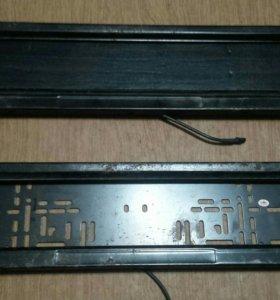 Номерная рамка с шторкой и блоком управления