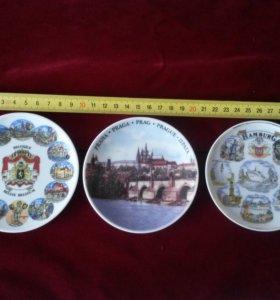 Настенные тарелки Бельгия Гамбург Прага