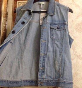 Жилетка джинсовая мужская