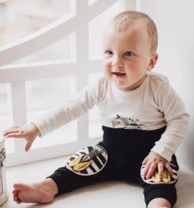 Новые штаны с мягкими наколенниками для малышей
