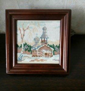 Картина ручной работы, вышивка крестом