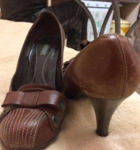 Туфли кожаные р37
